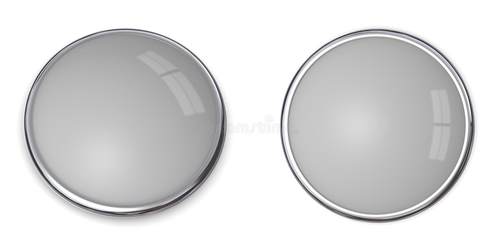 3D Button Solid Grey - 20% vector illustration