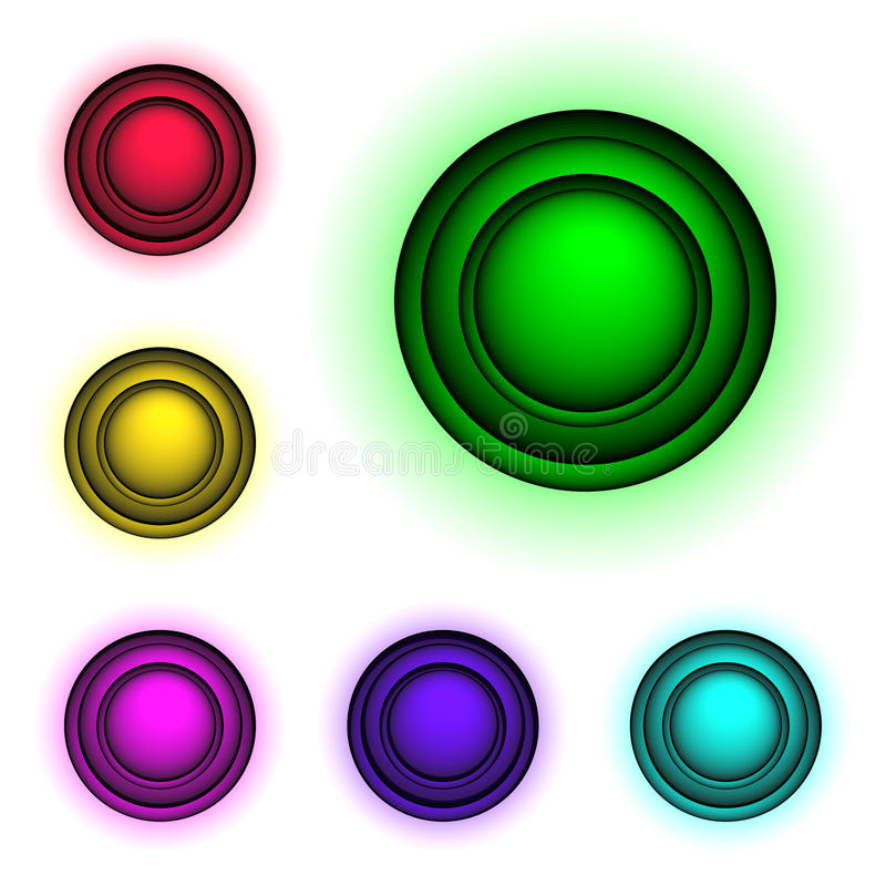 Download 3d buttons, stock vector. Image of color, elements, digital - 10548981