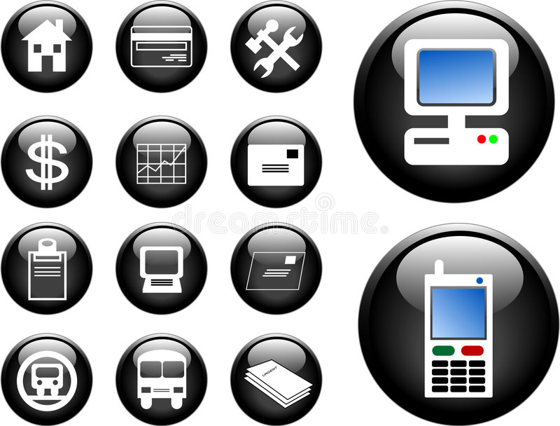 Download 3D Buttons stock illustration. Image of business, credit - 1338213