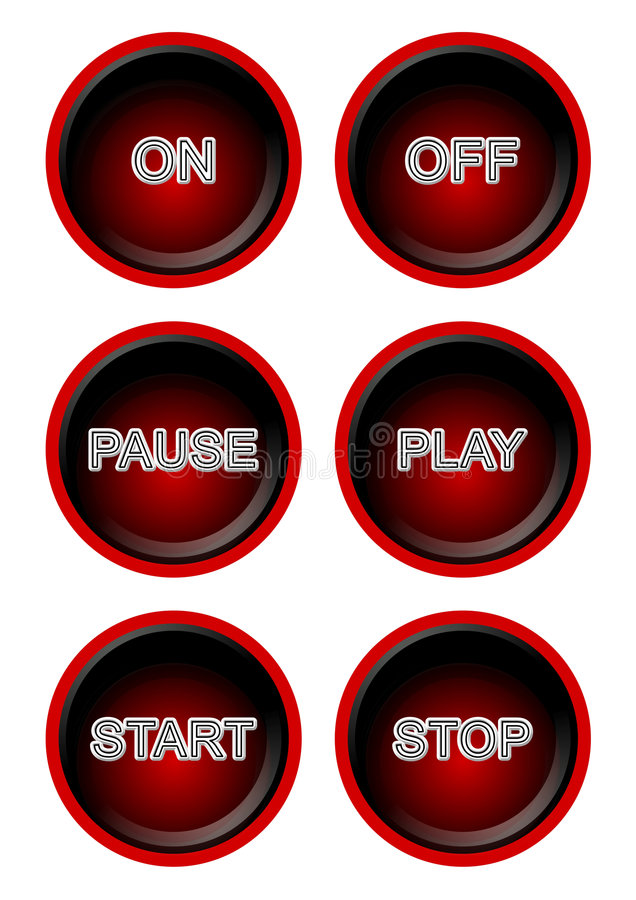 3D Buttons royalty free illustration