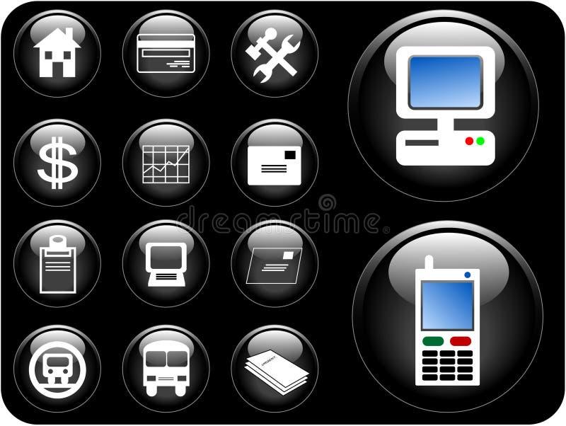 3d buttons vektorn royaltyfri illustrationer