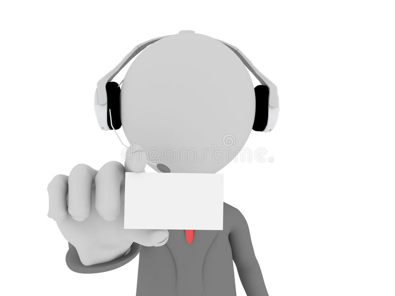 Download 3d Call Center Operator Stock Image - Image: 26064971