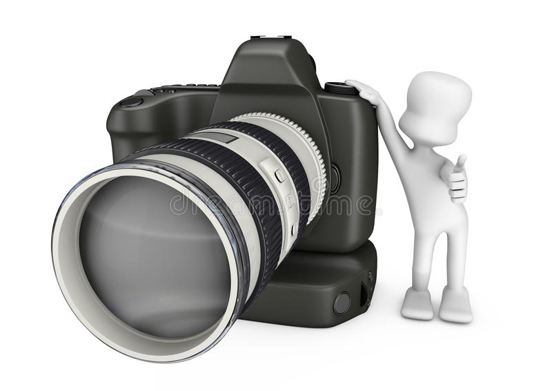 Download 3D camera and photographer stock illustration. Image of photos - 24634165