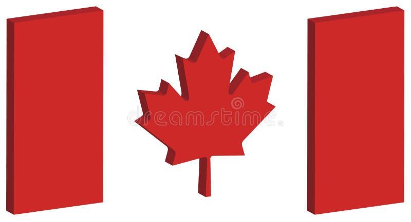 3D Canada Flag 1 stock photography