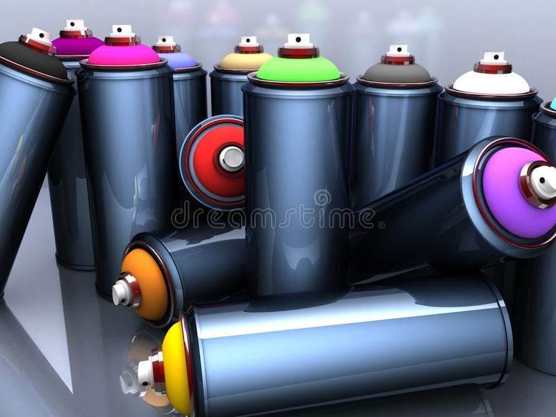 3d cans stock photo
