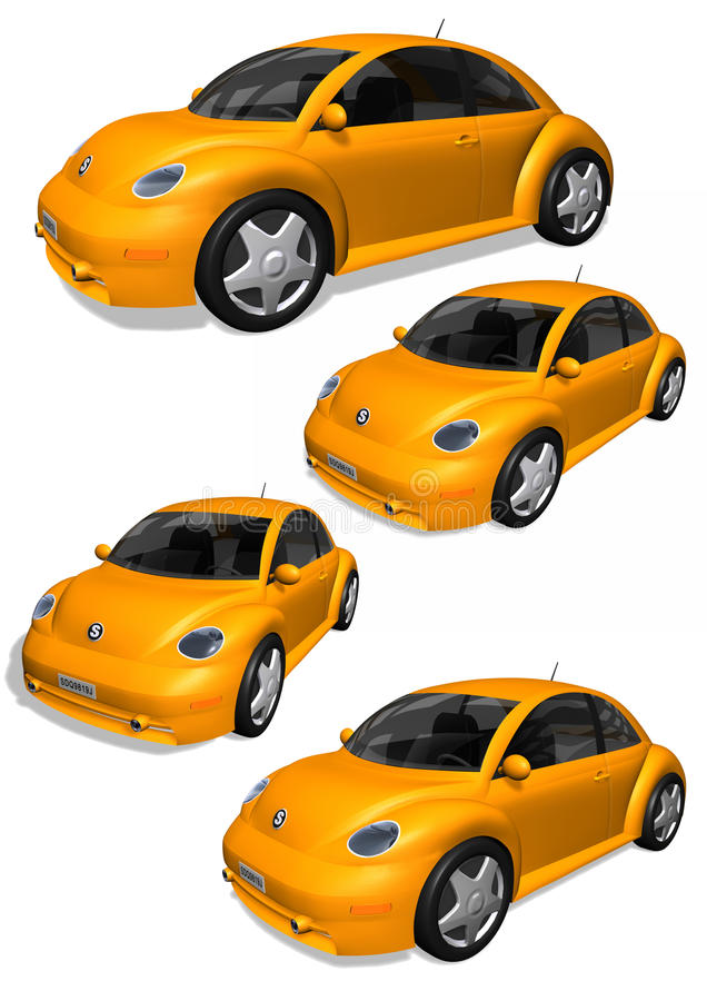Download 3D cars stock illustration. Illustration of metallic - 28399467