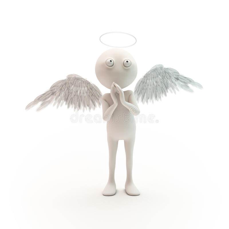 3D cartoon character angel