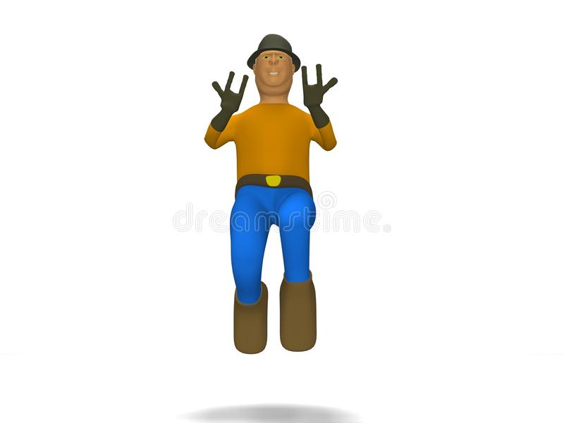 Download 3d Cartoon Character In Rock And Roll Stock Illustration - Illustration: 11801851