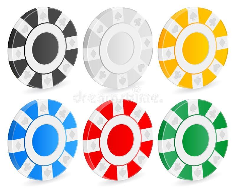 3D casino chips royalty free illustration
