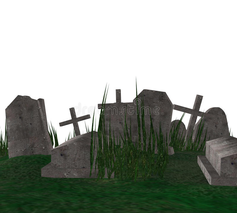 Free 3D Cemetery Royalty Free Stock Photography - 45853497
