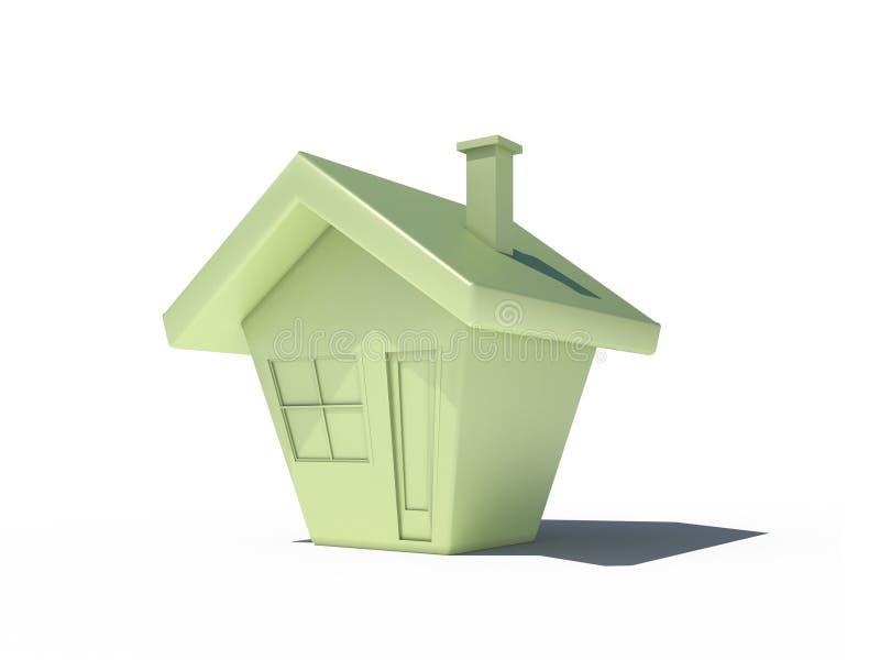 3d cg庄园房子固定实际 库存例证