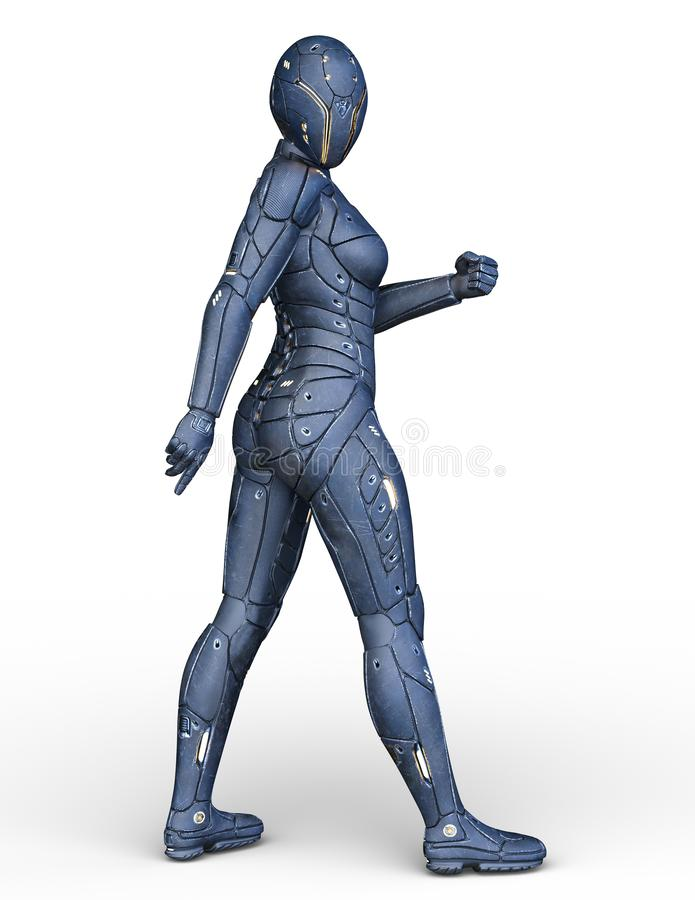 Free 3D CG Rendering Of Cyborg Woman Stock Photography - 136664492