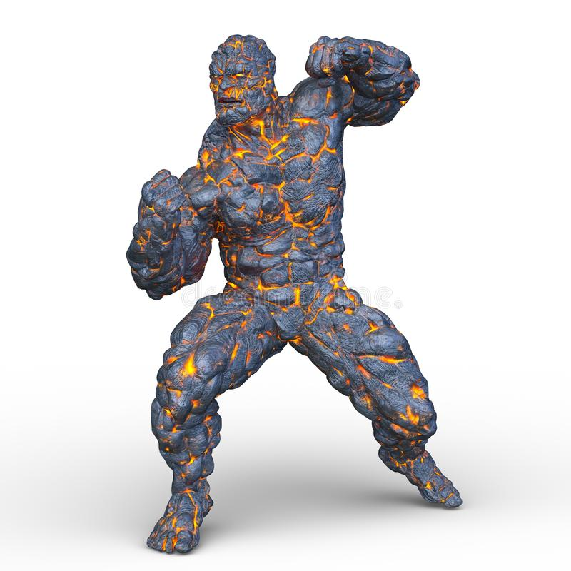 Free 3D CG Rendering Of Stone Man Royalty Free Stock Photography - 127074517