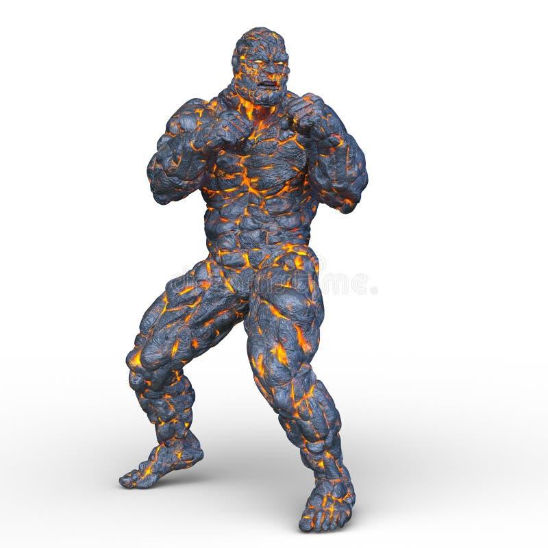 Free 3D CG Rendering Of Stone Man Stock Image - 127074581