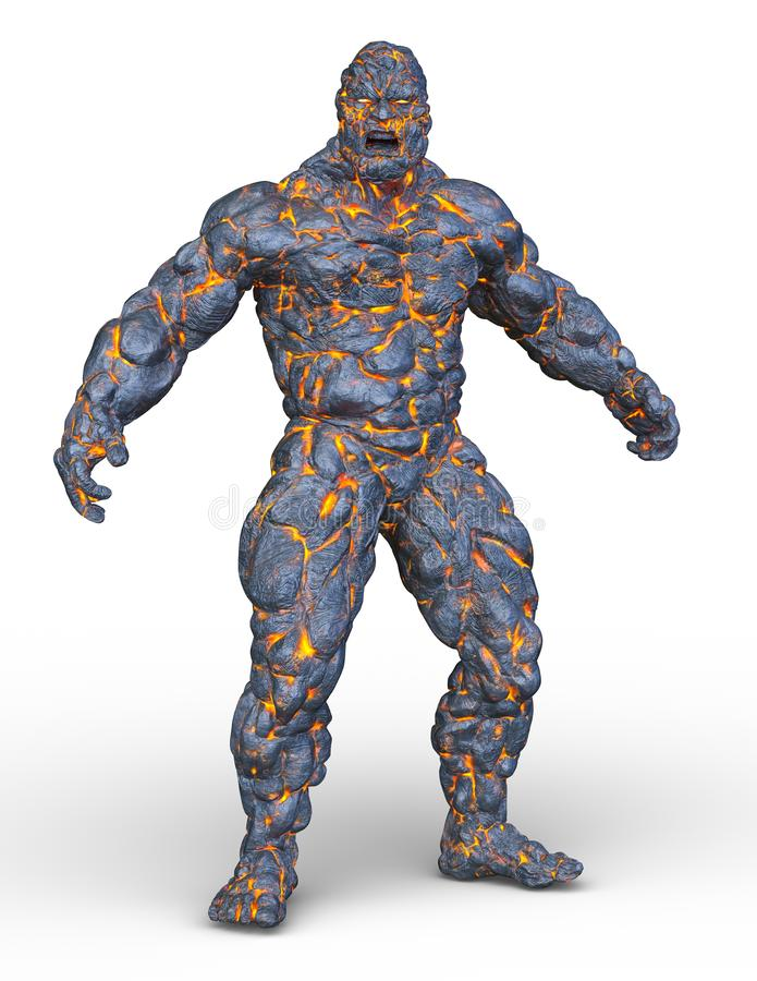 Free 3D CG Rendering Of Stone Man Royalty Free Stock Images - 128294069