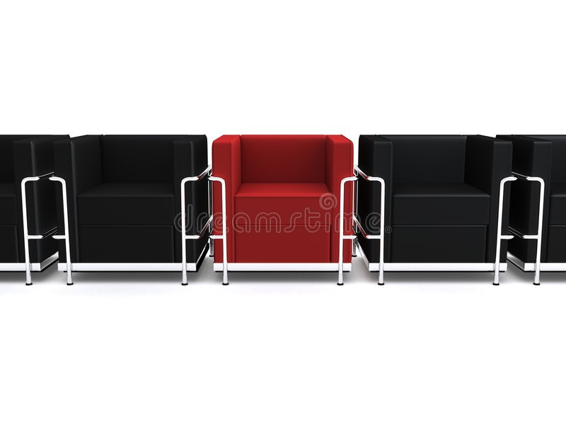 3d chairs stock illustration