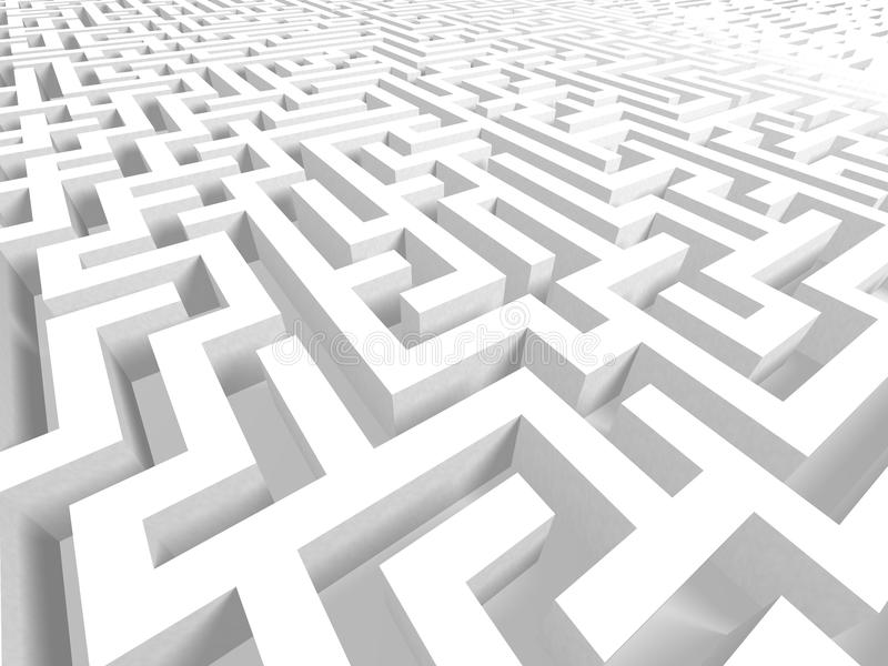 3D Challenge Challenging Maze Background stock illustration