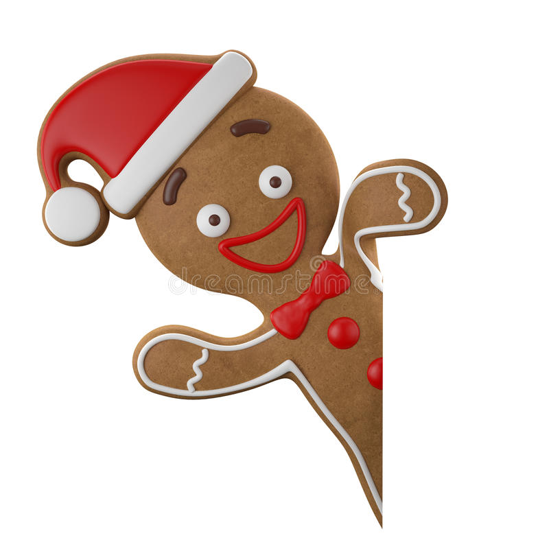 Free 3d Character, Cheerful Gingerbread, Christmas Funny Decoration, Royalty Free Stock Photography - 45759297