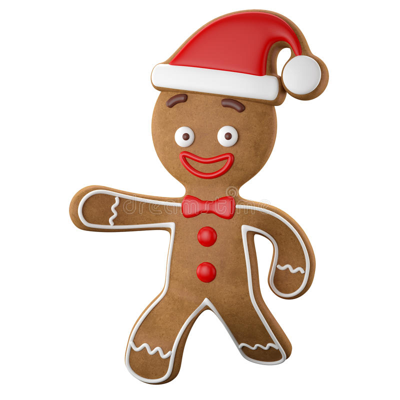Free 3d Character, Cheerful Gingerbread, Christmas Funny Decoration, Royalty Free Stock Photos - 45759338