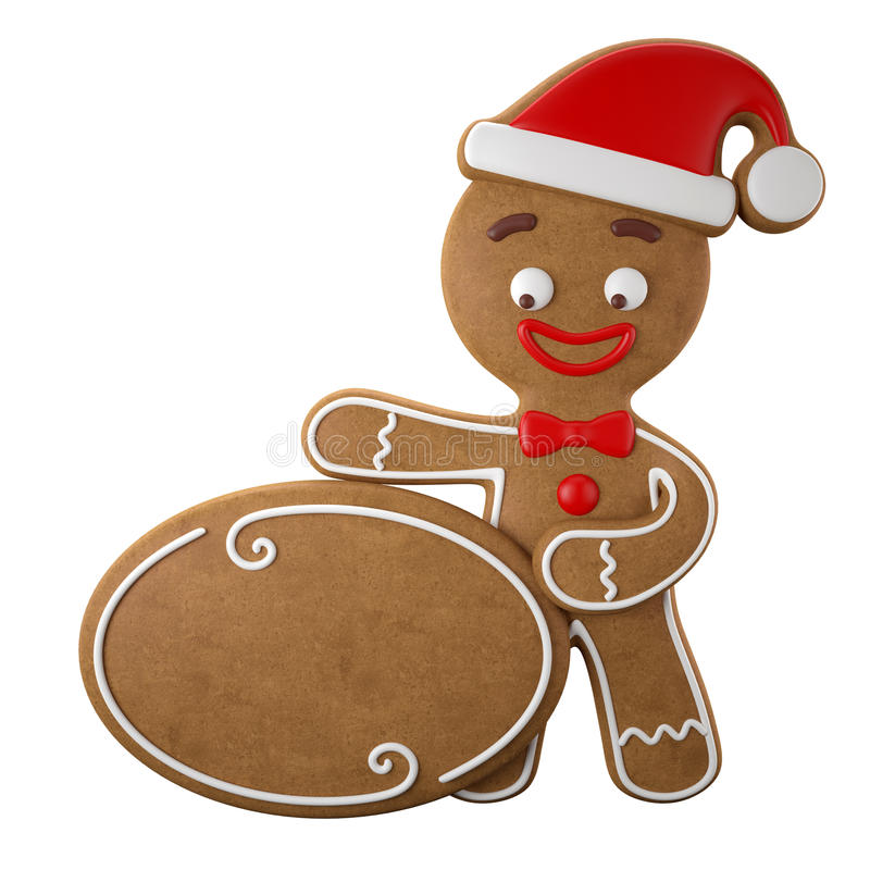 Free 3d Character, Cheerful Gingerbread, Christmas Funny Decoration, Royalty Free Stock Photography - 45759367