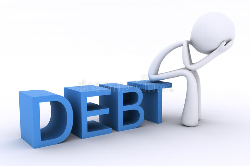 Download 3D Character With Head In Hands. Debt Stock Illustration - Image: 11474253