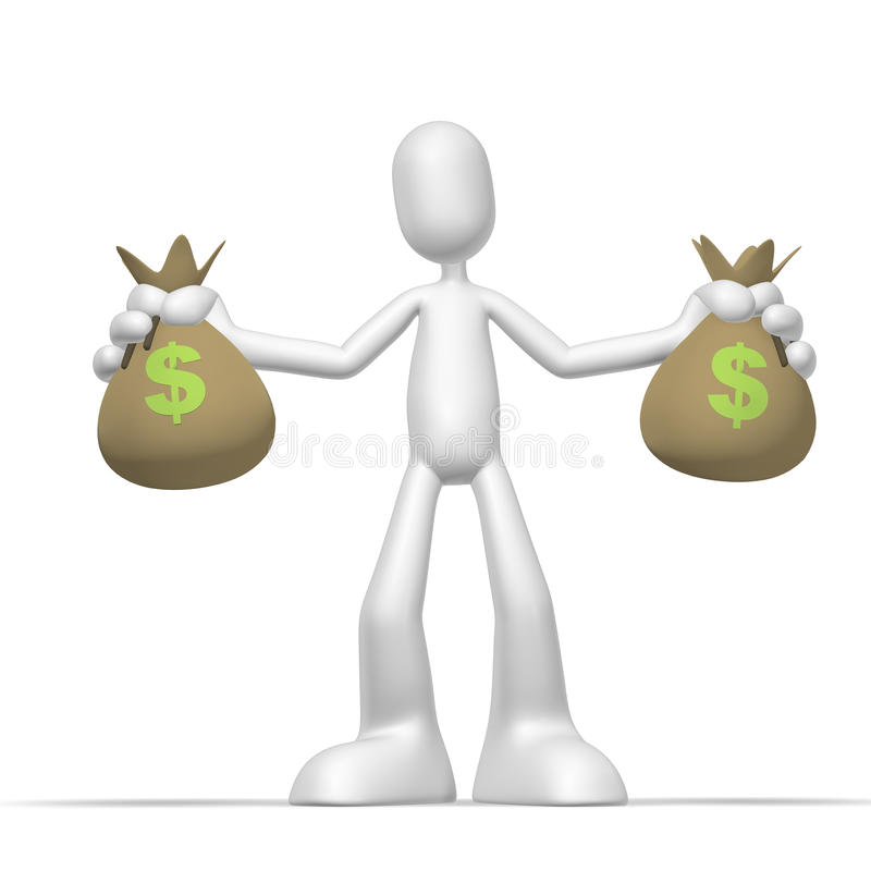 Download 3d character jackpot stock illustration. Illustration of bank - 10806473