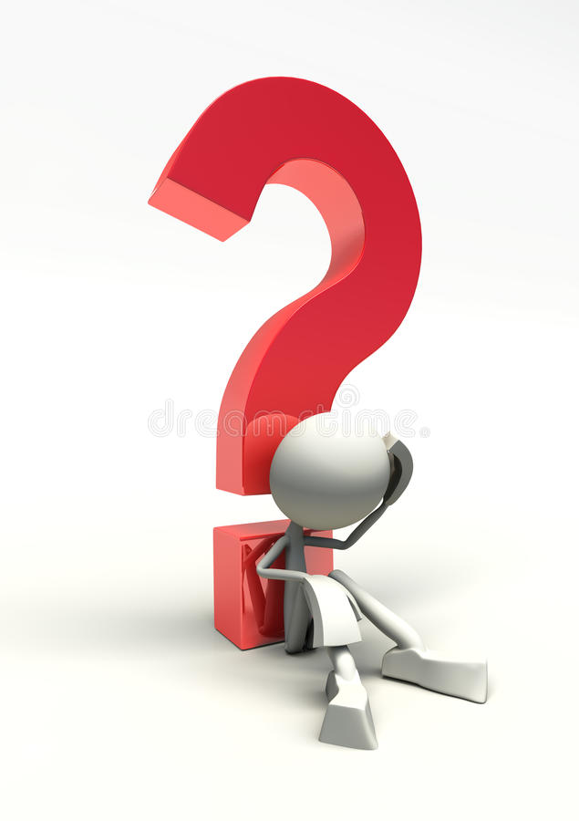 Download 3D Character And Question Mark Stock Illustration - Image: 17220536