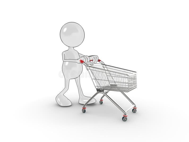 3d charakteru zakupy ilustracja wektor