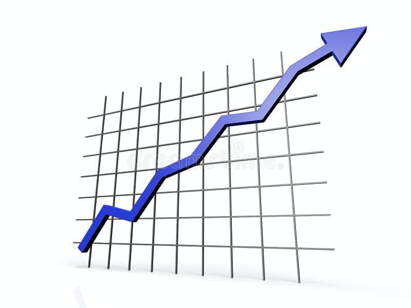 3D chart stock illustration
