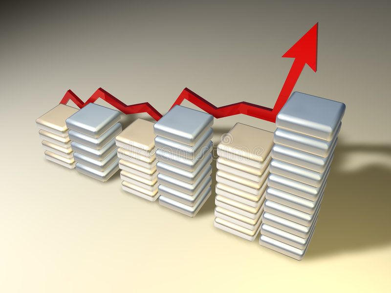 3d chart stock illustration