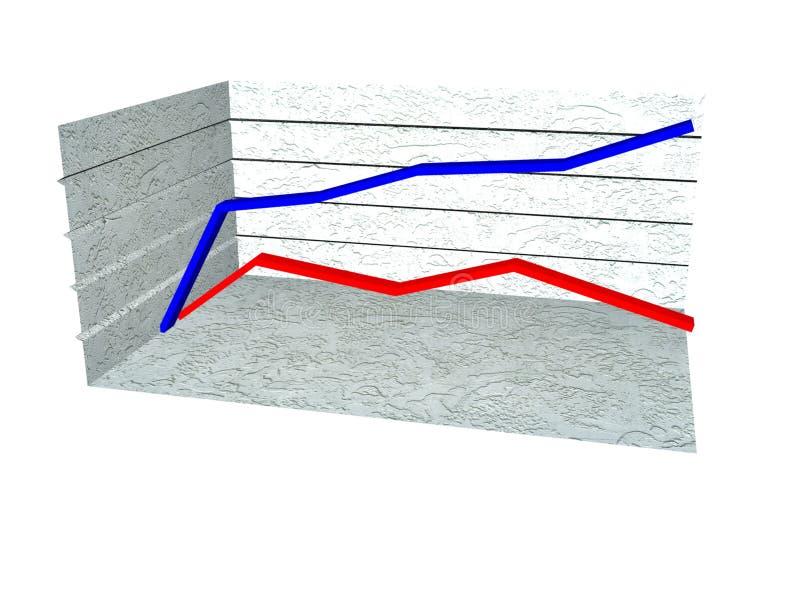 3d chart. A 3d representation of a chart stock illustration