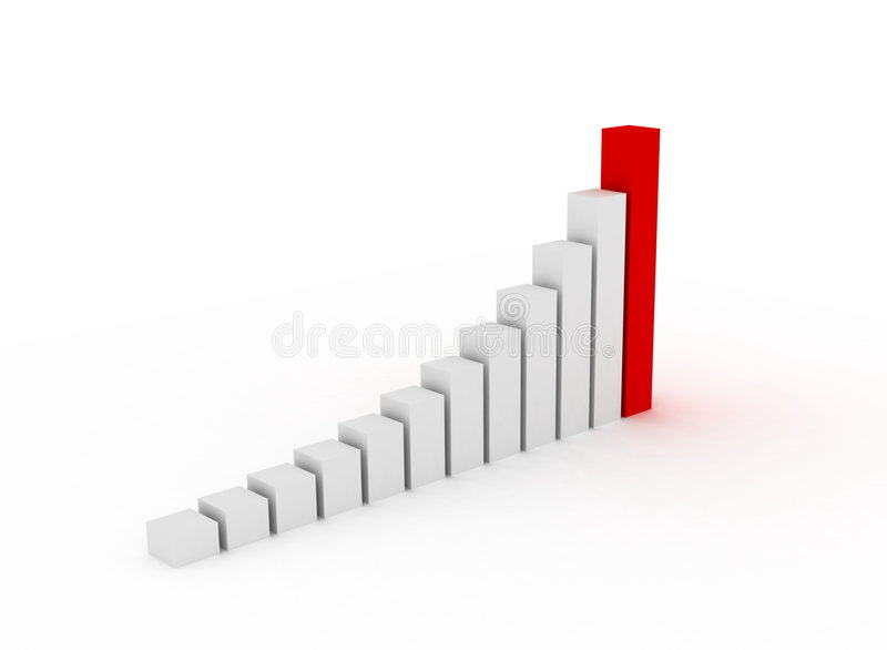 3d Chart. Illustration of a chart going up royalty free illustration