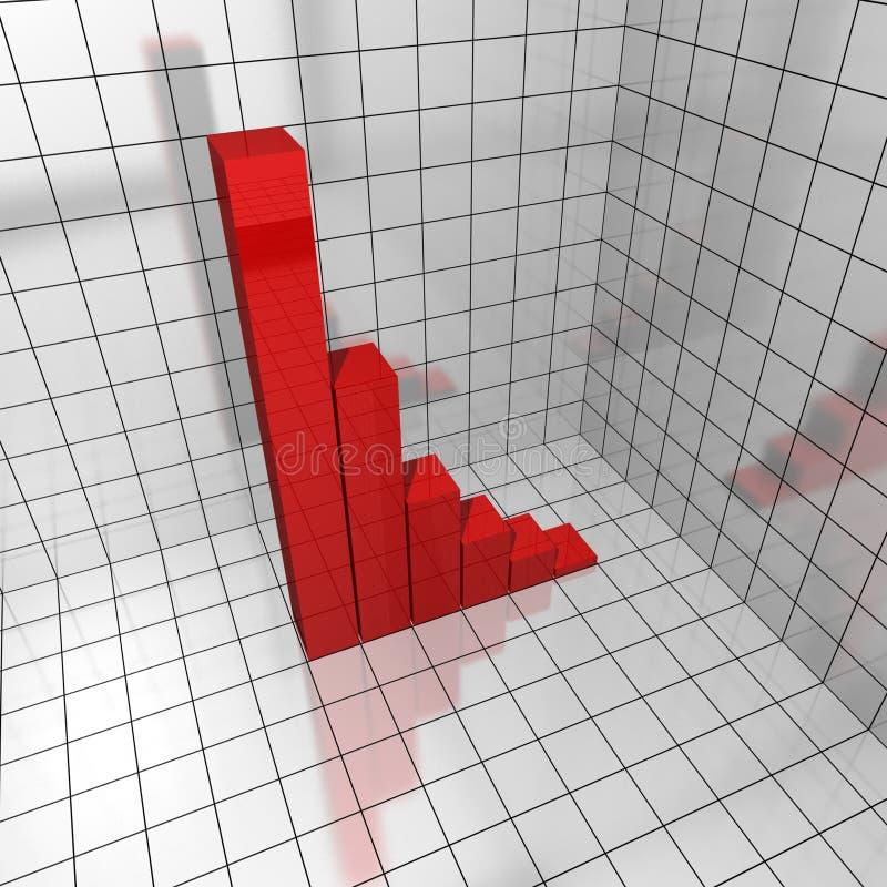 3d chart deficit vector illustration