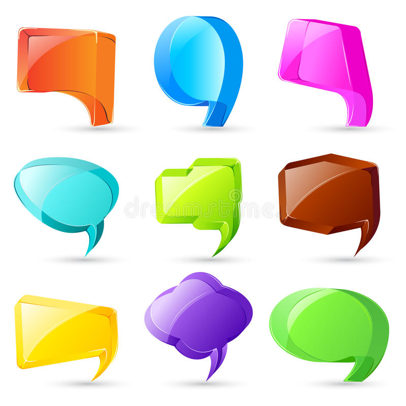 Download 3d Chat Bubble stock vector. Image of idea, editable - 28876903