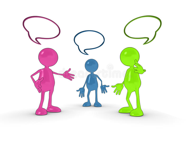 Download 3d chat characters stock illustration. Image of balloon - 11273762