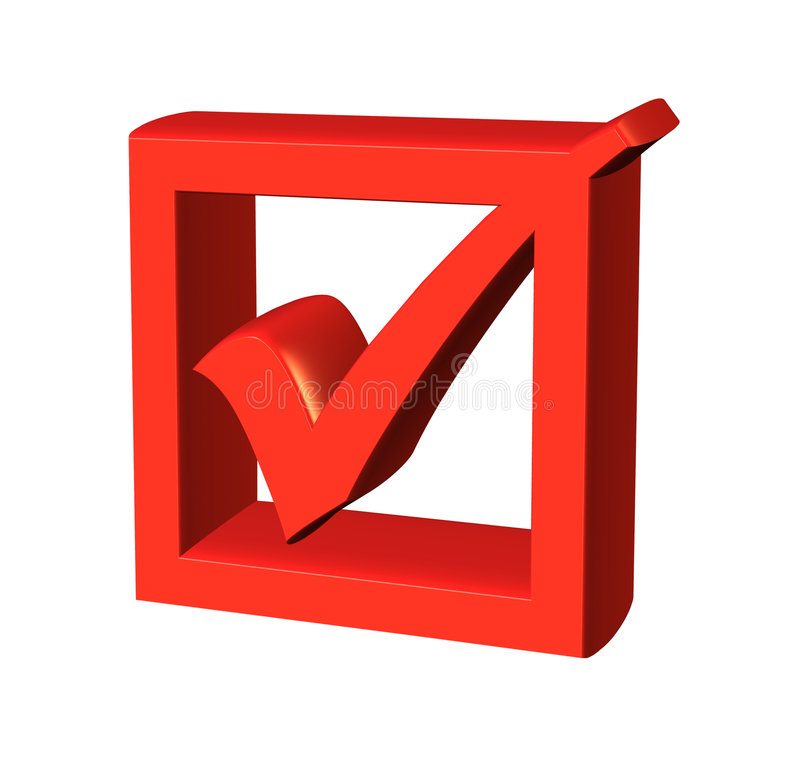3d checkbox. Isolated on white background royalty free illustration