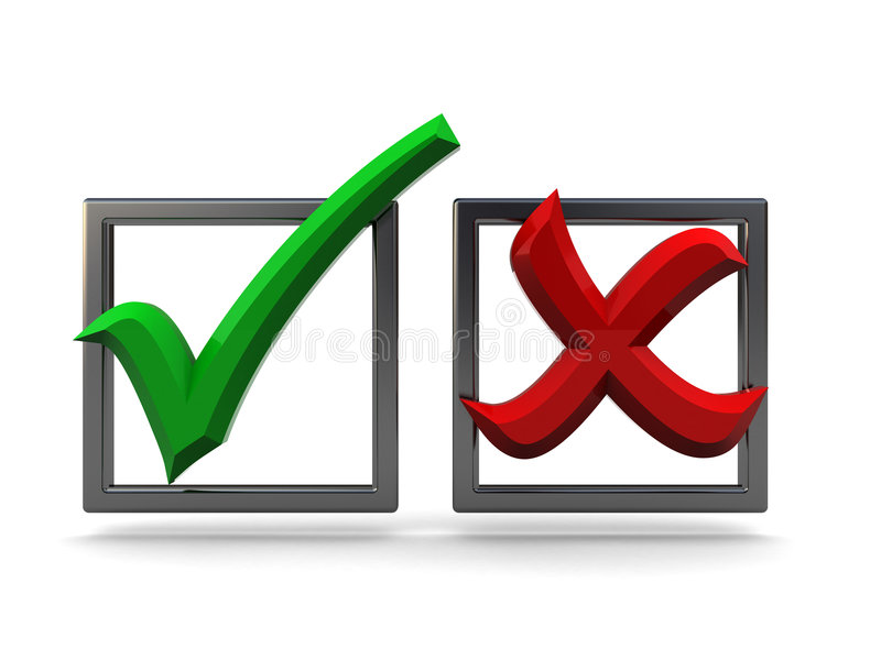 Download 3d checkboxes stock illustration. Illustration of assess - 9146658