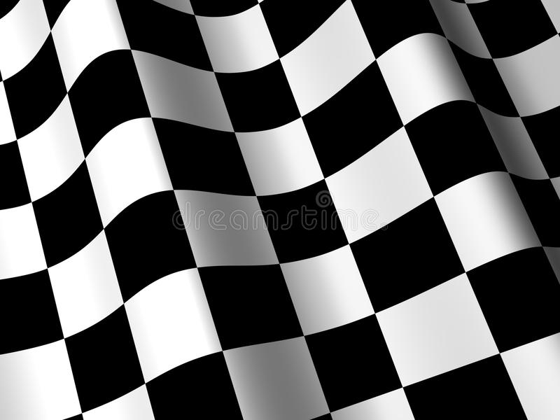 3D Checkered Racing Flag stock illustration