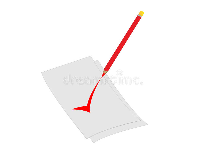 3d checking white sheet of paper royalty free stock photos