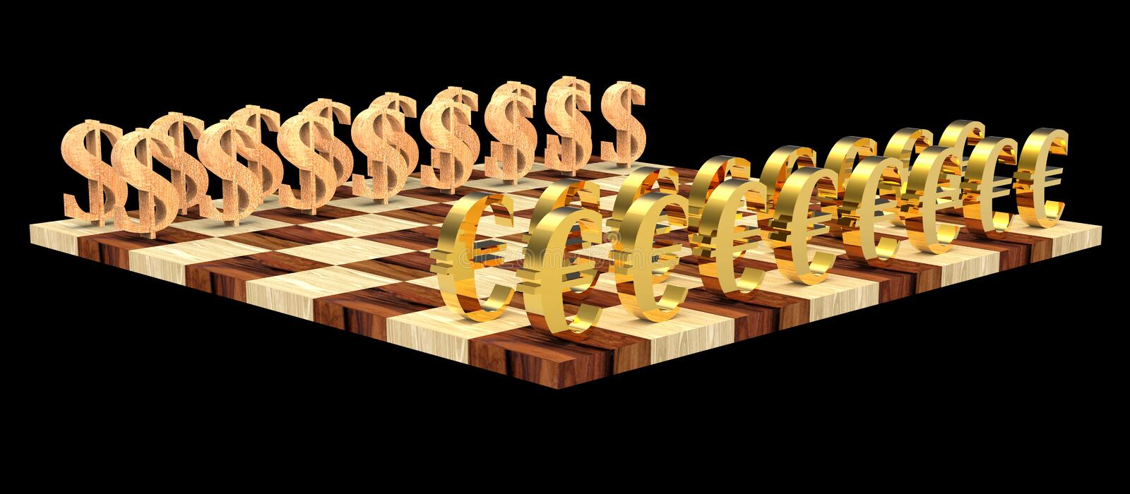 3D chess royalty free stock images