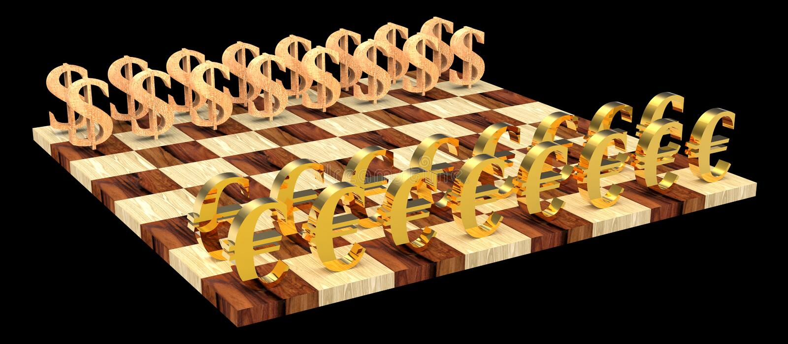 3D chess royalty free stock image