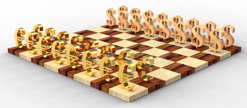 3D chess stock photo