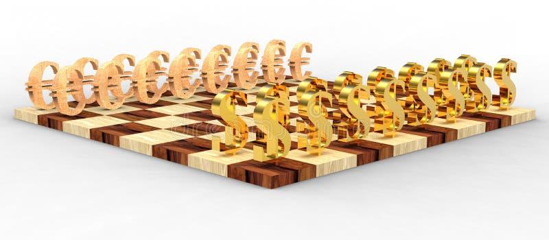 3D chess royalty free stock photos