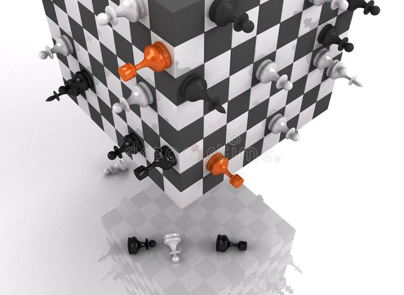 Download 3d chess fighting stock illustration. Image of object - 2820991