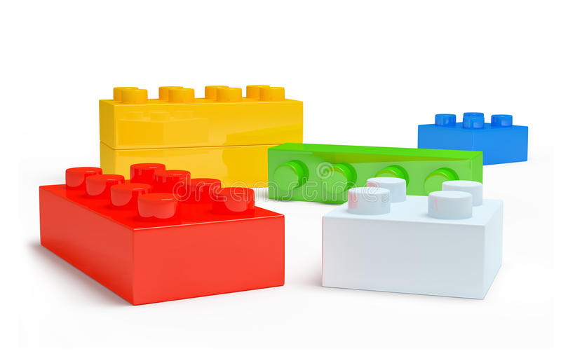 3D children zabawkarscy plastikowa część. ilustracji