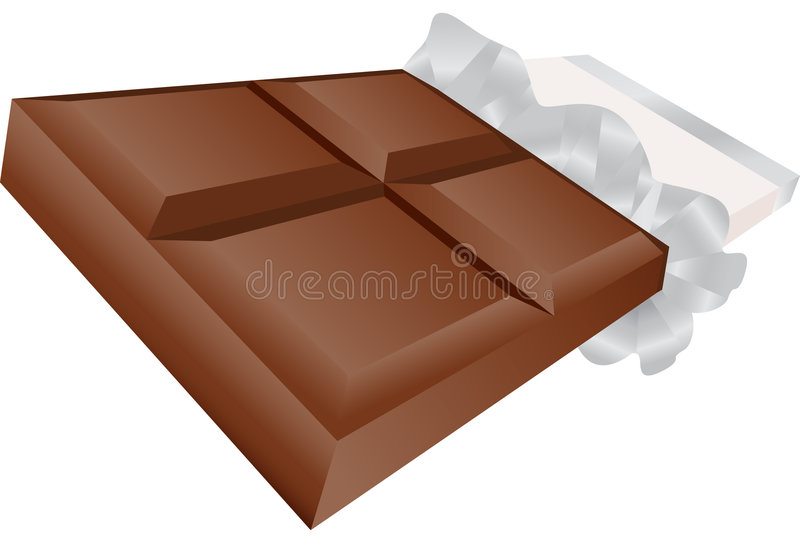 3D Chocolate Candy Bar royalty free illustration