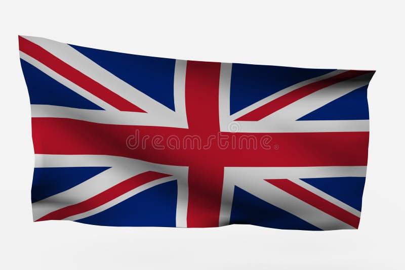 3d chorągwiany uk obraz royalty free