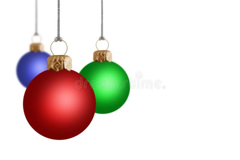 3D Christmas Baubles Stock Photo
