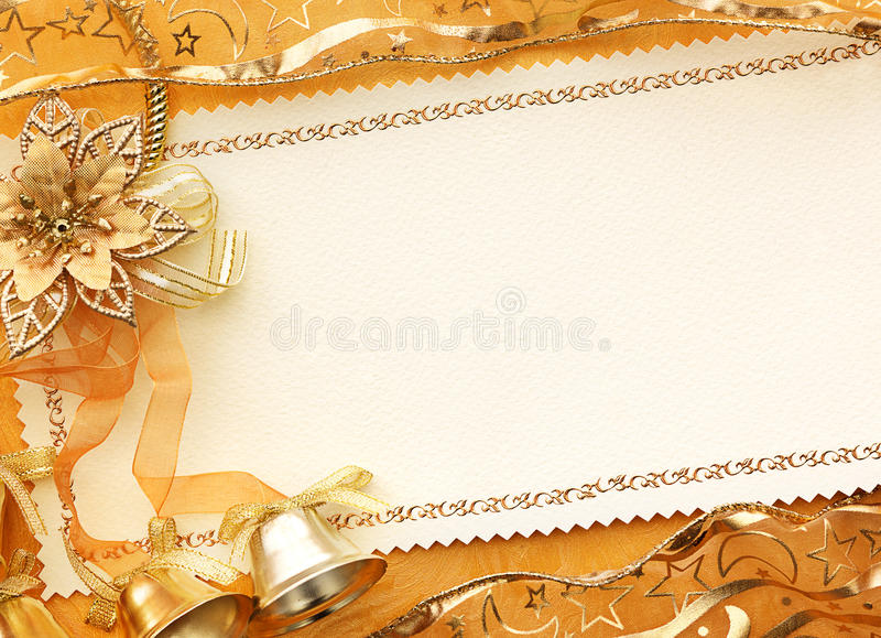 3D Christmas gold background royalty free stock photography
