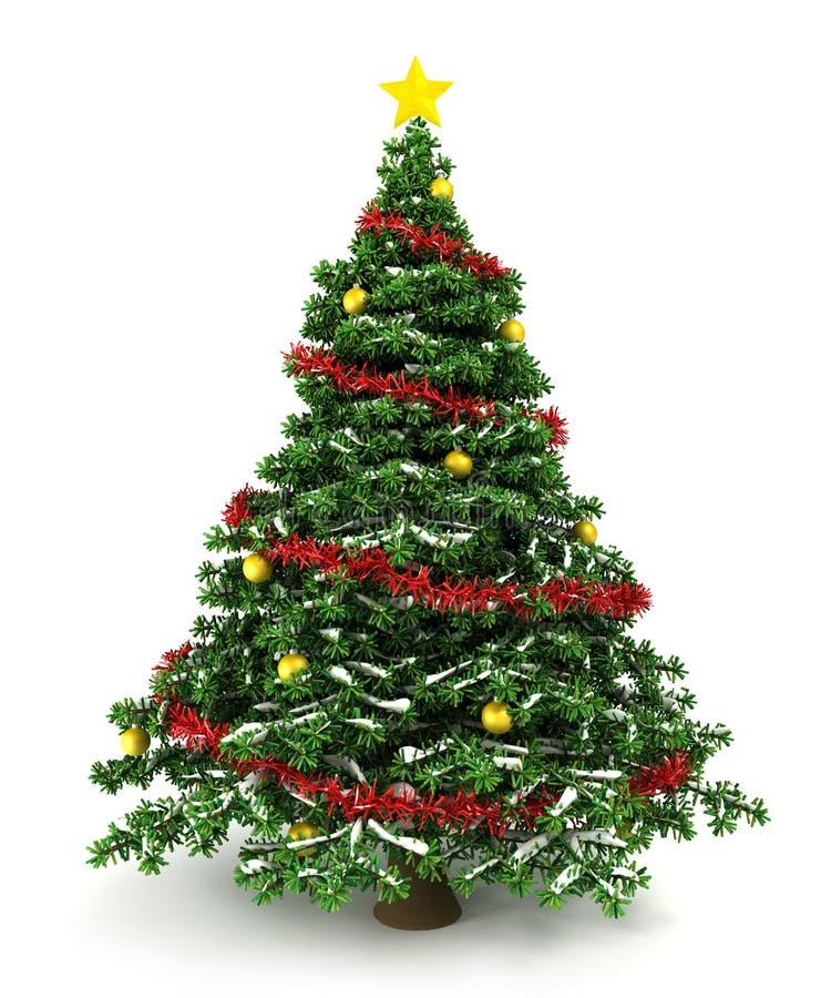 3d Christmas tree stock illustration
